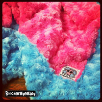 The Rockin Reesie MINKY baby blanket and matching Lovey Completely custom Your choice of color and texture