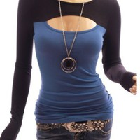 Party Women Sexy Keyhole Long Sleeve Blouse Top: Clothing