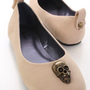 Nude Faux Suede Skull Decor Casual Flats @ Amiclubwear Flats Shoes online store:Women&#x27;s Casual Flats,Sexy Flats,Black Flats,White Flats,Women&#x27;s Casual Shoes,Summer Shoes,Discount Flats,Cheap Flats,Spring Shoes,Cute Flats Shoes,Women&#x27;s Flats Shoes,Sneaker
