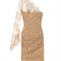 mytheresa.com -  Emilio Pucci - ONE-SHOULDER LACE COCKTAIL DRESS - Luxury Fashion for Women / Designer clothing, shoes, bags