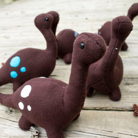 Dinosaur Plush in Brown - Large (Choose your Spot Color)