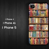 Case iPhone 4 Case iPhone 4s Case iPhone 5 Case idea case book library Bookshelf