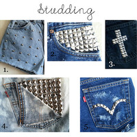 CUSTOM OPTION  Studding by MyLittleShortShop on Etsy