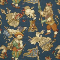 Medieval fabric lion bear chess from Brick House Fabric: Novelty Fabric
