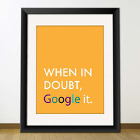 $3.95 Google It Digital Printable Typography Art for Posters by misterio