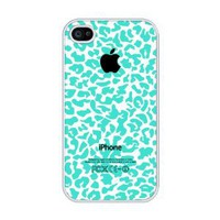 Amazon.com: Turquoise Cheetah Pattern rubber iphone 4 case - Fits iphone 4 &amp; iphone 4s: Cell Phones &amp; Accessories