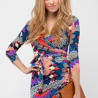 Paisley Mini Dress in Multi :: tobi
