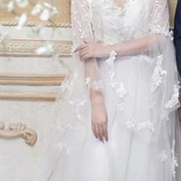 Cape designed Royal Lace Wedding Dress from WeiweiK