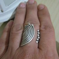 SWIRL RING - Stylish Silver pl-Adjustable