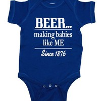 Beer Making Babies Since 1876 Funny Baby Creeper Romper