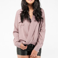 Twisted Around Top in Mauve :: tobi