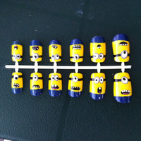 Despicable Me Style False Nails by ellisnails on Etsy