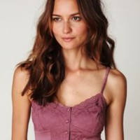 Free People Charmeuse Lace Crop Cami at Free People Clothing Boutique