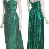 Vintage 80s Sequins Cocktail Dress | Free Shipping