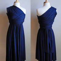 Convertible Infinity Dress in Navy by RestorationThreads on Etsy