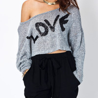 cropped-sequined-love-graphic-sweater CHARBLACK - GoJane.com