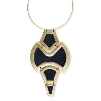 BCBGMAXAZRIA - ACCESSORIES: JEWELRY: VIEW ALL: TRIBAL PLATE NECKLACE