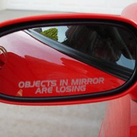 OBJECTS IN MIRROR ARE LOSING decal sticker c5 chevy c6 corvette camaro truck car muscle impala malibu volt cr1 hhr zr1 cobalt