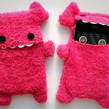 Fellfische - fluffy Cellphone Case for Iphone 3 & 4 - Pink Teeth