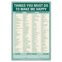Things You Must Do to Make Me Happy Pad