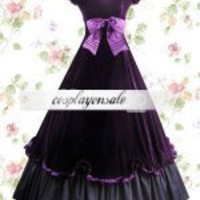 Purple And Black Floor Length Classic Lolita Dress [T110137] - $82.00 : Cosplay, Cosplay Costumes, Lolita Dress, Sweet Lolita