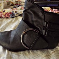 Buckled Ankle-height Boots