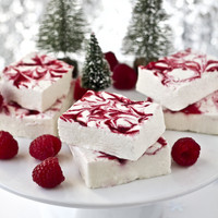 Raspberry Swirl Marshmallow And Happy Holidays