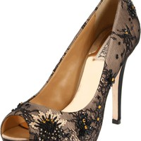 Badgley Mischka Women's Stella Open-Toe Pump