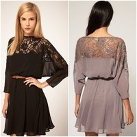 Chiffon and Lace Evening Dress from Everliving Beauty