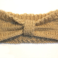 Knitted Beige Headwrap