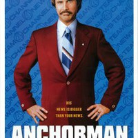 (11x17) Anchorman: The Legend of Ron Burgundy - Will Ferrell Movie Poster