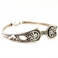 SALE: Good Luck Irish Shamrock Four Leaf Clover Sterling Silver Bracelet, Size 8 (BR05)
