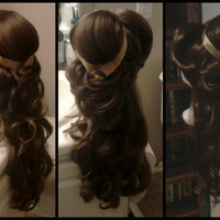 BRUNETTE BEAUTY WIG Couture Princess Inspired Wig by SirensGrotto