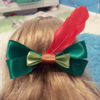 Peter Pan Inspired Disney Bow by JordansBowtique on Etsy