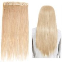 "LUXURY PERFUME STORE - Fashionable 23"" Straight Full Head Clip in Hair Extensions - Blonde"