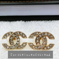 crystal embedded studs from For the Love of Thread