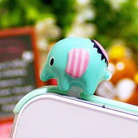 Cute  elephant  cell  plug  from looback