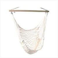 Amazon.com: Cotton Rope Hammock Cradle Chair With Wood Stretcher: Home & Kitchen