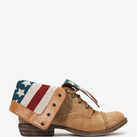 American Flag Lace-Up Boots | FOREVER 21 - 2031882442