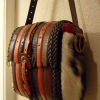 Upcycled Leather Belt Bag Made From Leather Belts by Cassapora http://www.etsy.com/shop/Cassapora?ref=si_shop