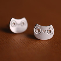Little Owl Stud Earrings