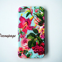 Vintage flower  iPhone 4 Case  iPhone 4s Case  by AdaFashion