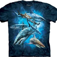 Shark Collage Men's Blue Tee