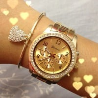 Gold Boyfriend Watch