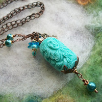 Mermaid Necklace, Ocean Blue