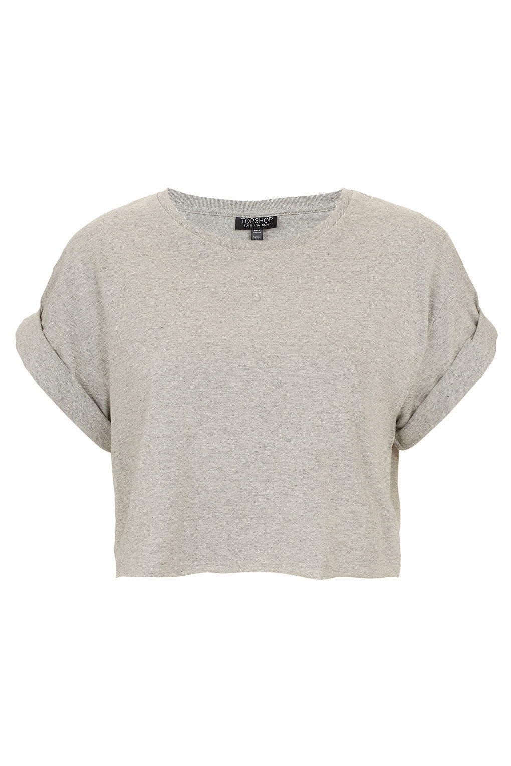 Roll Back Crop Tee Jersey Tops From Topshop