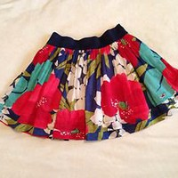 Hollister Co floral skirt