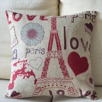 Paris Love Print Decorative Pillow  on Luulla