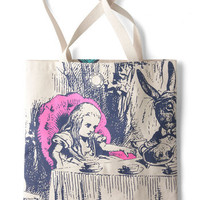 Out of Print Fairytale, Scholastic Bookshelf Bandit Tote in Alice
