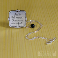 we were infinite acrylic engraved necklace